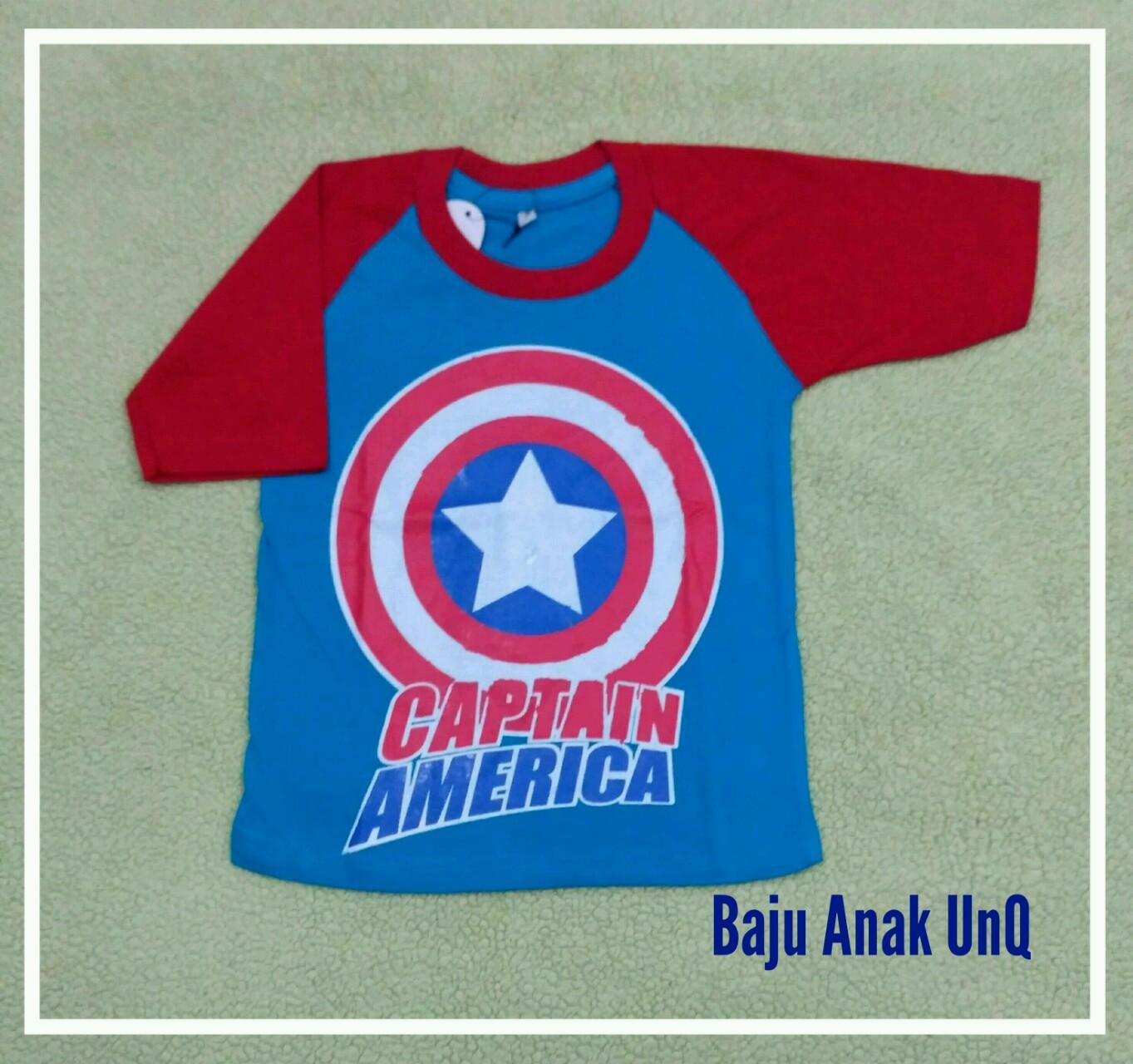 Fitur Kaos Anak Captain America Baju Anak Laki Laki Dan Harga ... ee4393d8b5