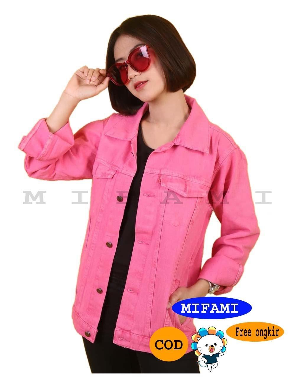 MFM jaket jeans denim wanita warna