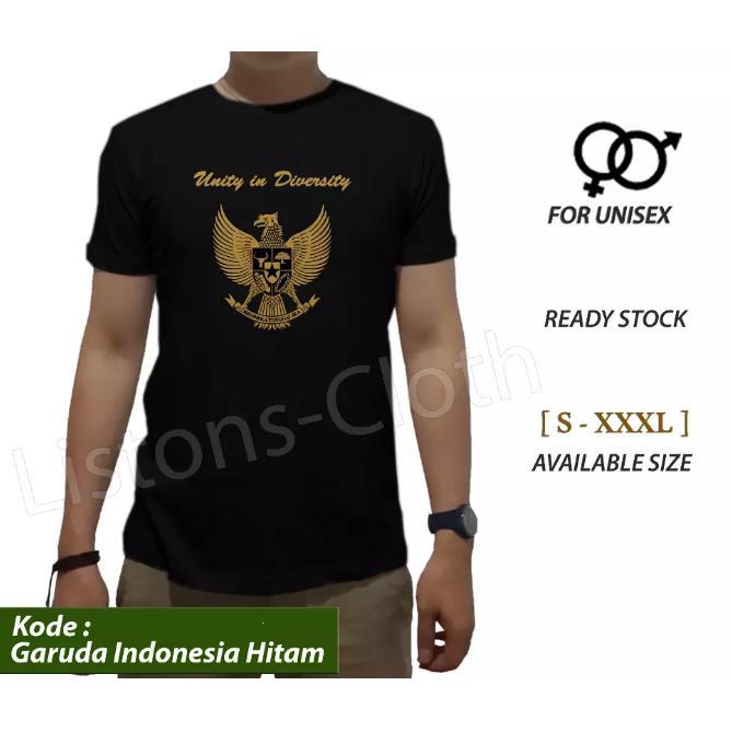 Kaos Baju T Shirt Unity In Diversity Distro Pria Cowok Bhineka Bhinneka Tunggal Ika Garuda Pancasila Persatuan Indonesia Hitam