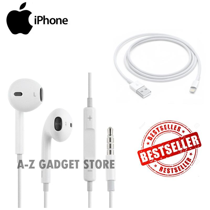 Apple Earphone / Headset / Handsfree For iPhone 4/5/6 White fREE Kabel ...