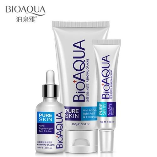 Bioaqua pure skin series removal of acne ( Paket 3 in 1 bioaqua pure skin series removal of acne )