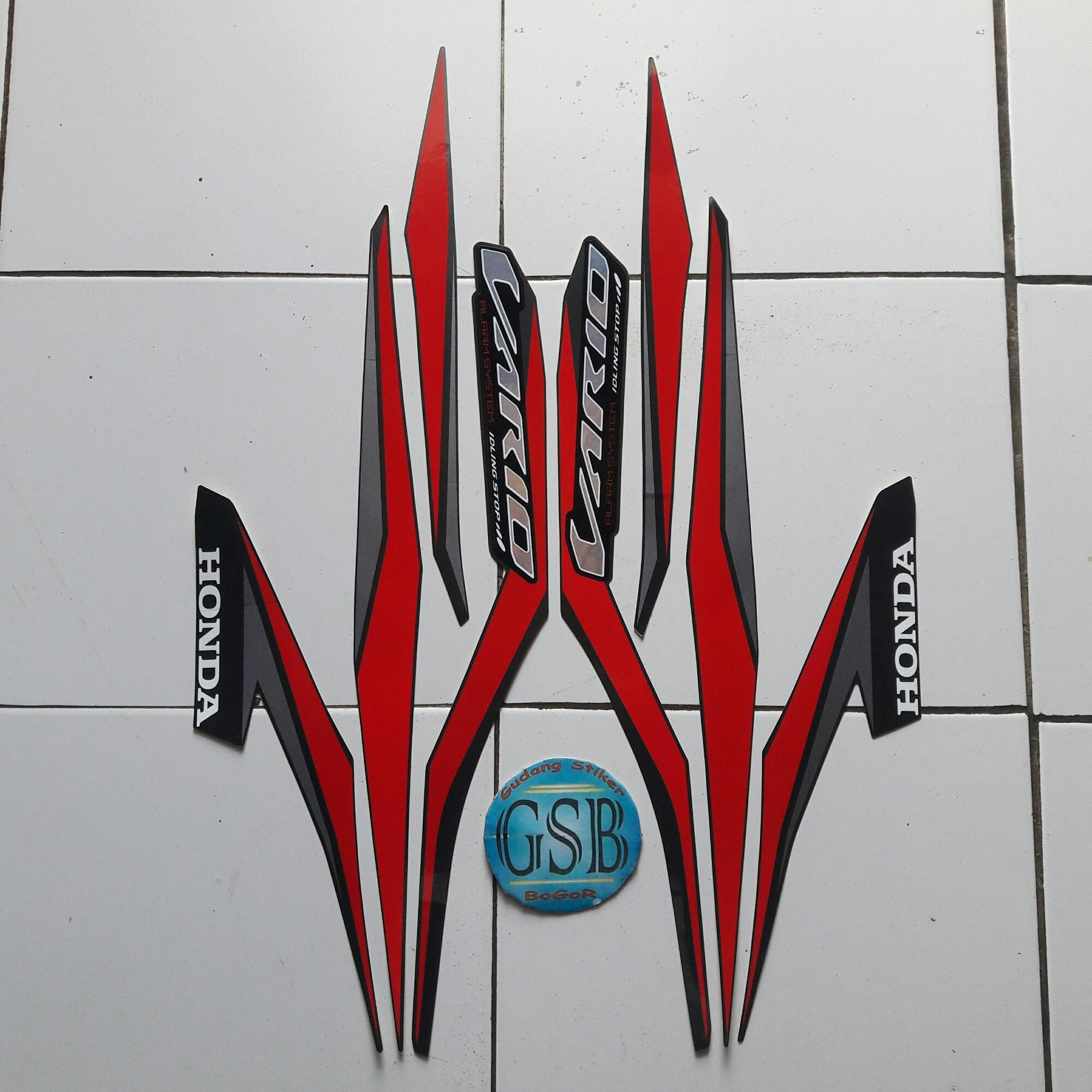 Kelebihan Spedah Motor Honda Vario 125 Cbs Iss Murah Terkini New 110 Esp Advanced Matte Grey Depok Stiker Striping 2018 Full Hitam Merah
