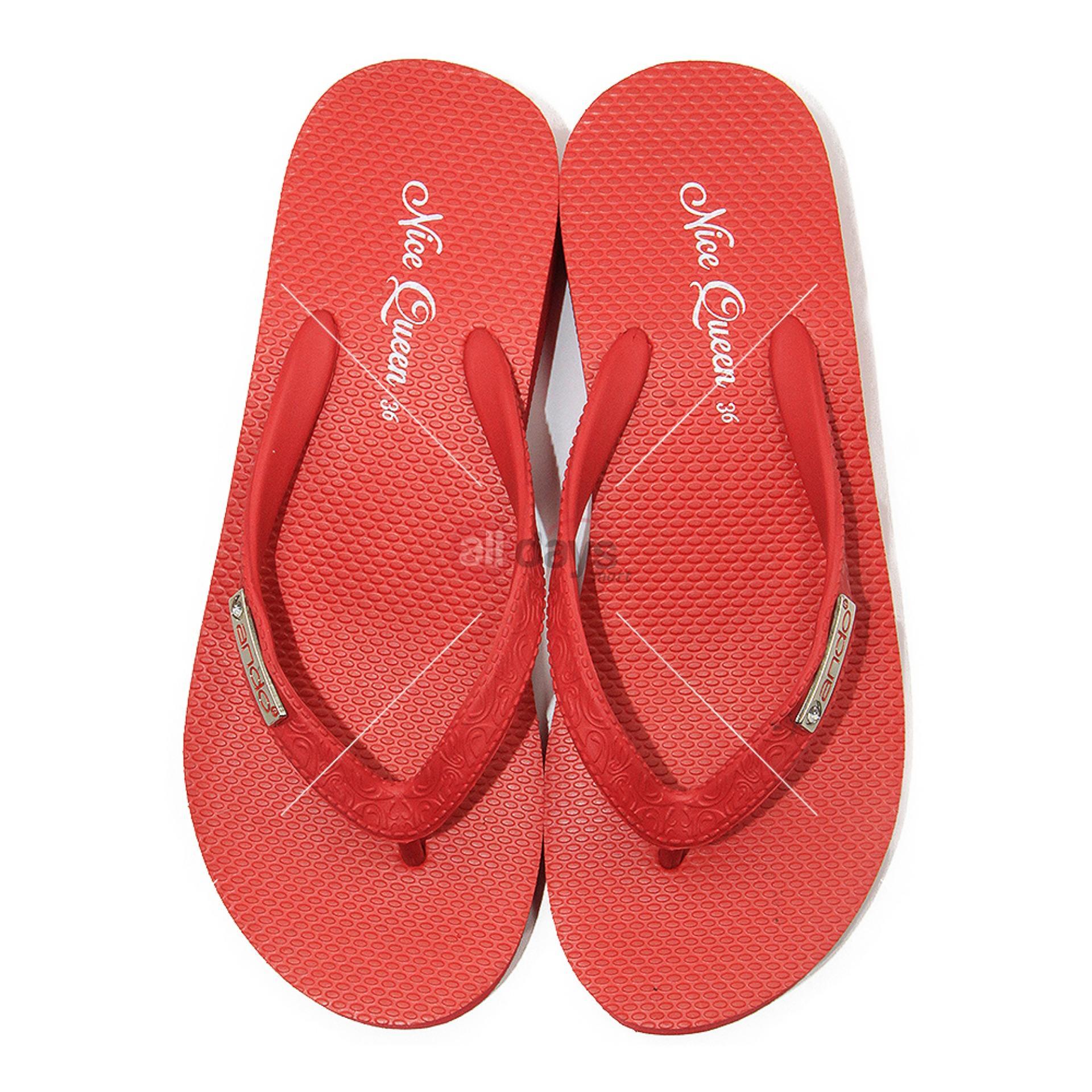 ... Ando Sandal Jepit Nice Queen Ladies - Merah - 5