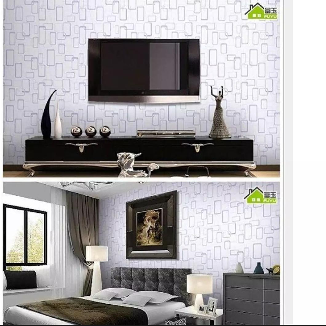 NAP - Wallpaper Stiker Dinding Motif Dan Karakter Premium Quality Size 45cm X 10M Kotak Putih