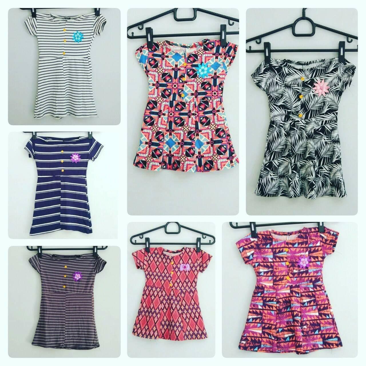 (PROMO) Dress Anak Lengan Pendek Perempuan 1-2thn Motif Random Bagus Murah