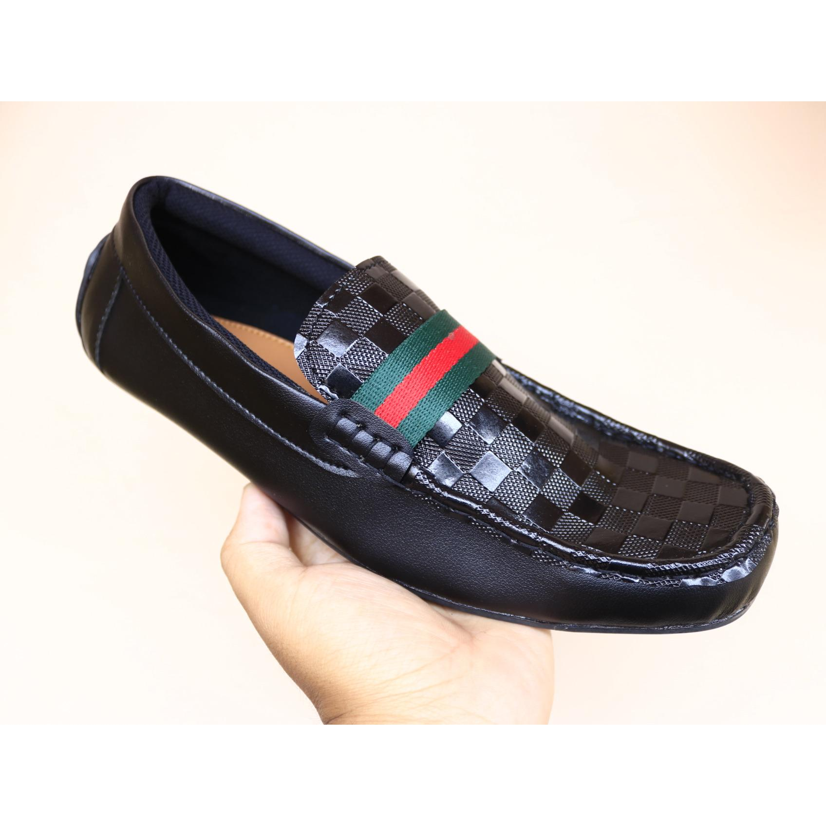 sepatu casual gucci pria casual formal mocasin slip on flat shoes slop pria kickers loafers adidas (Lokal)