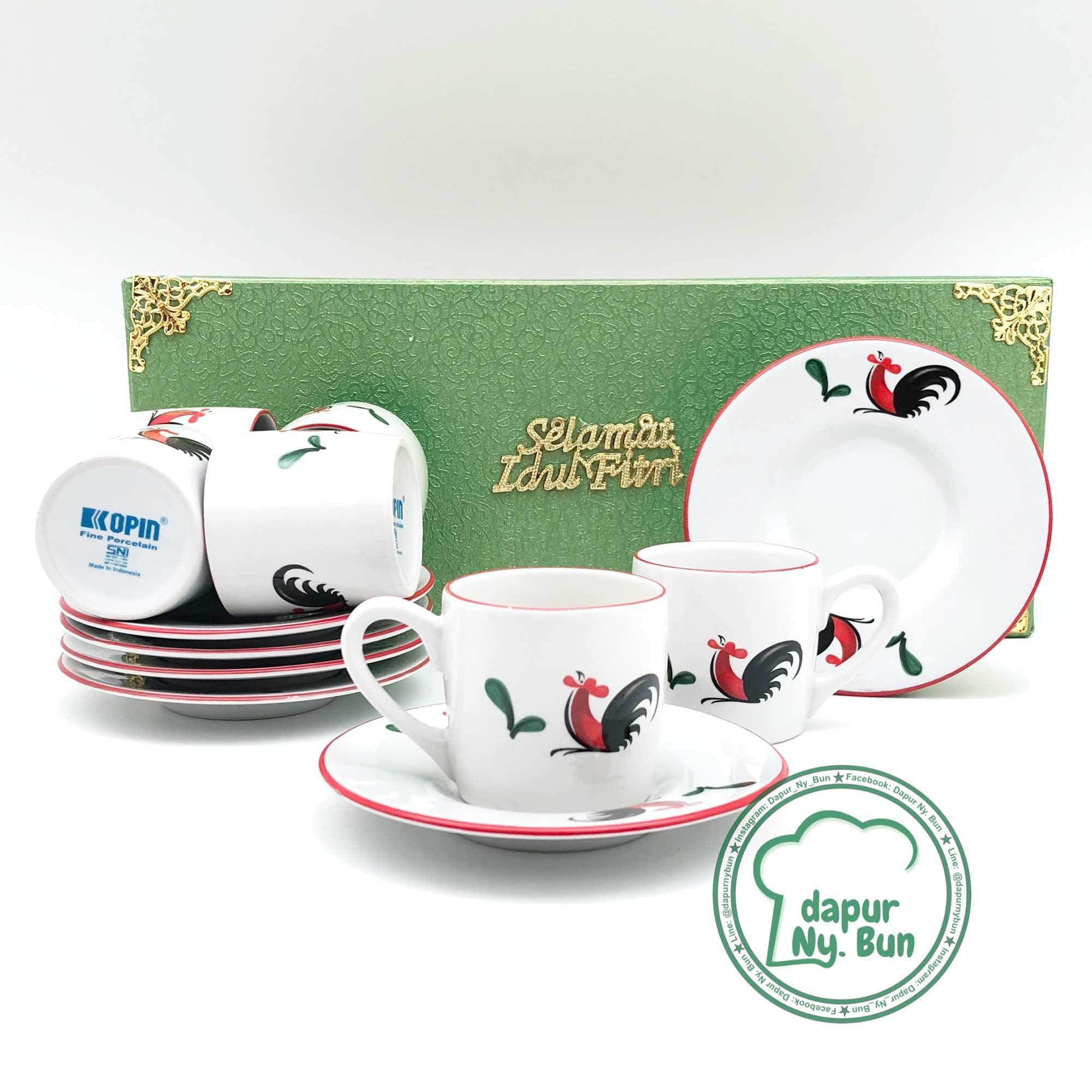Cek Harga Baru Tea Set Gelas Cangkir Espresso Capodimonte Terkini Kaca Isi 6 Paket Lebaran Ayam Jago Seri 2 For Ied Mubarak