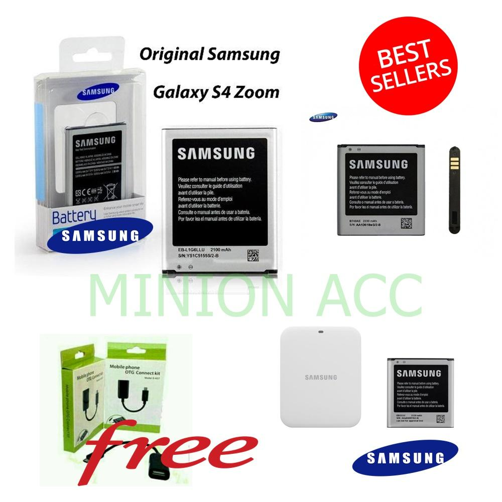 Samsung Baterai / Battery For Galaxy S4 Zoom / C101 Original - Kapasitas 2330Mah Free Kabel