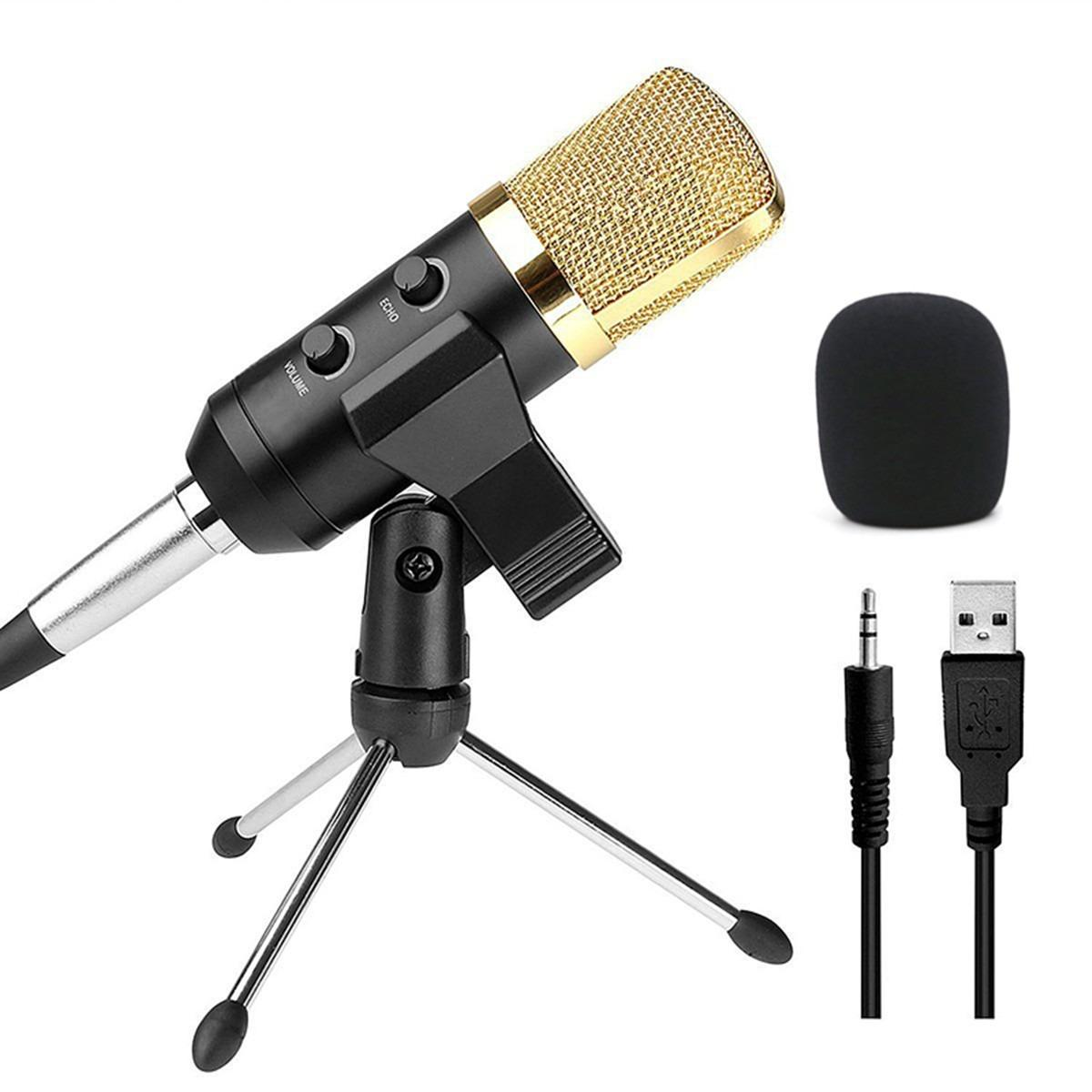 Jual Audio Usb Kondensor Sound Studio Recording Vokal Mikrofon Dengan Stand Mount New Black Internasional Online Indonesia