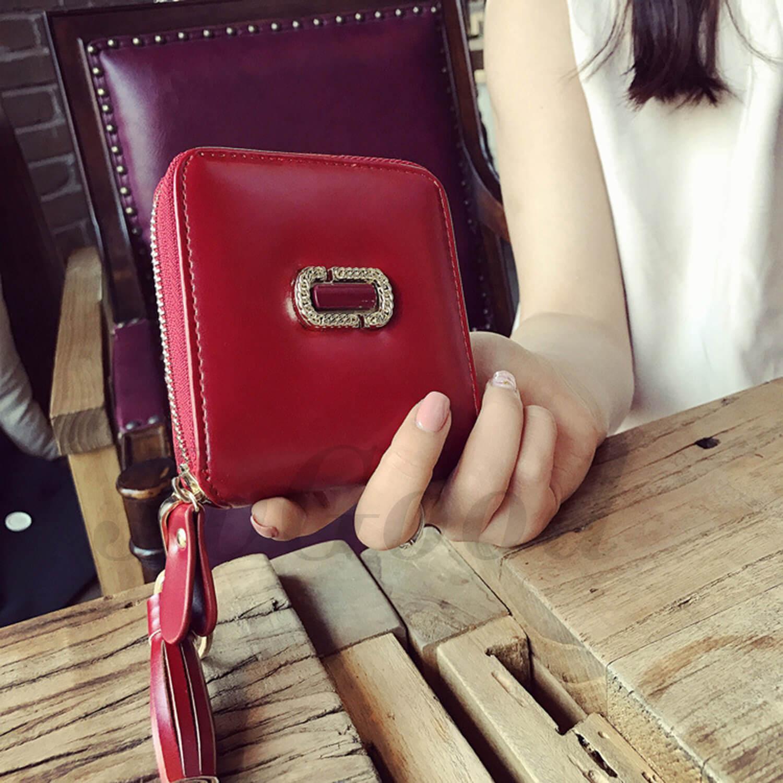 ... JvGood PU Leather Women Short Wallets Zipper Small Wallet Coin Pocket Credit Card Holder Handbag Female