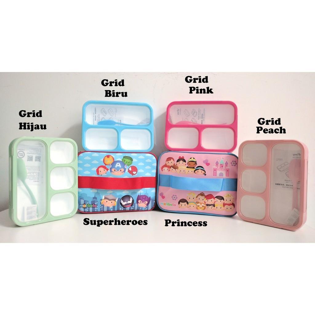 ... Set Lunch Box Kotak Makan Bento Yooyee dan Lunch Bag Tempat Bekal Printing Variasi Girl+