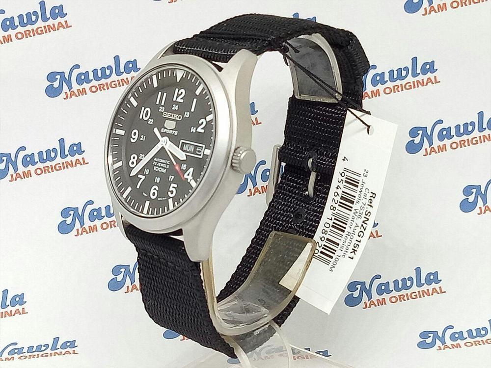 ... Seiko 5 Sports SNZG15K1 Automatic Black Nylon - Jam Tangan Pria SNZG15 Best N2jt - 5