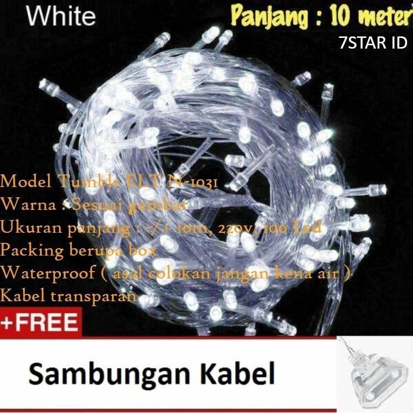 Lampu Hias ELT N-1031 7STAR Tumblr LED 10 Meter FULL + Ada Colokan Sambungan