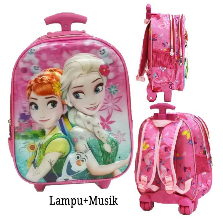 Toko Onlan Frozen Fever 5D Timbul Hologram Ada Lampu Dan Music Tas Anak Tk Import Pink Termurah Dki Jakarta