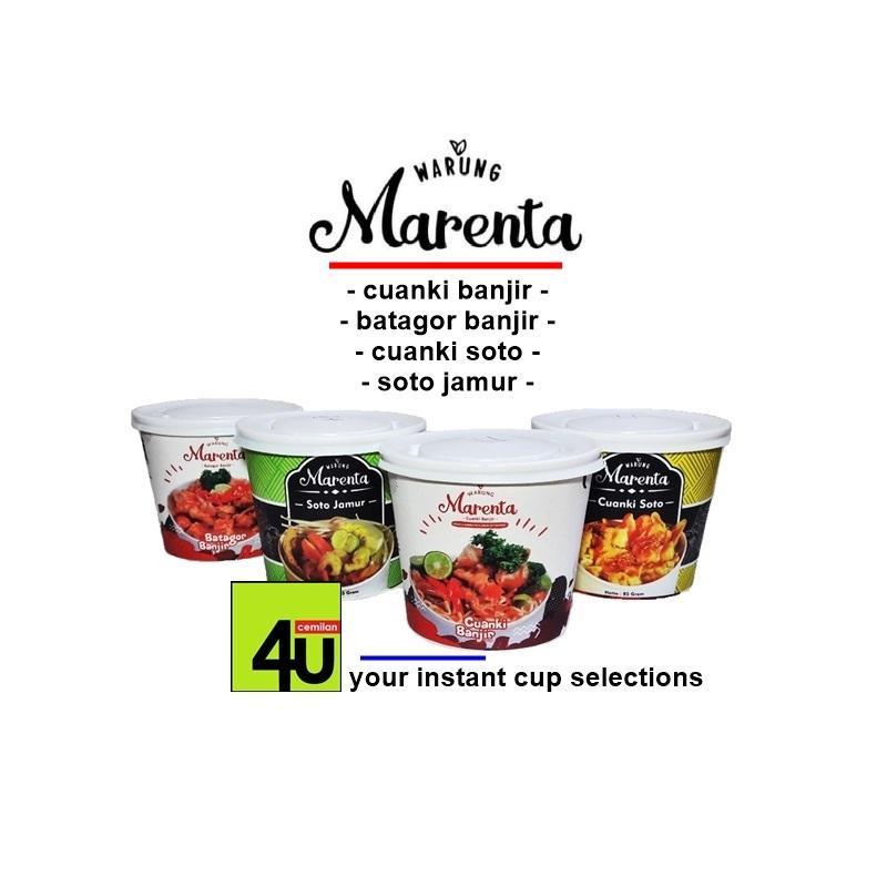 Warung Marenta - Cuanki Batagor Soto Instan - Paket 3 cup