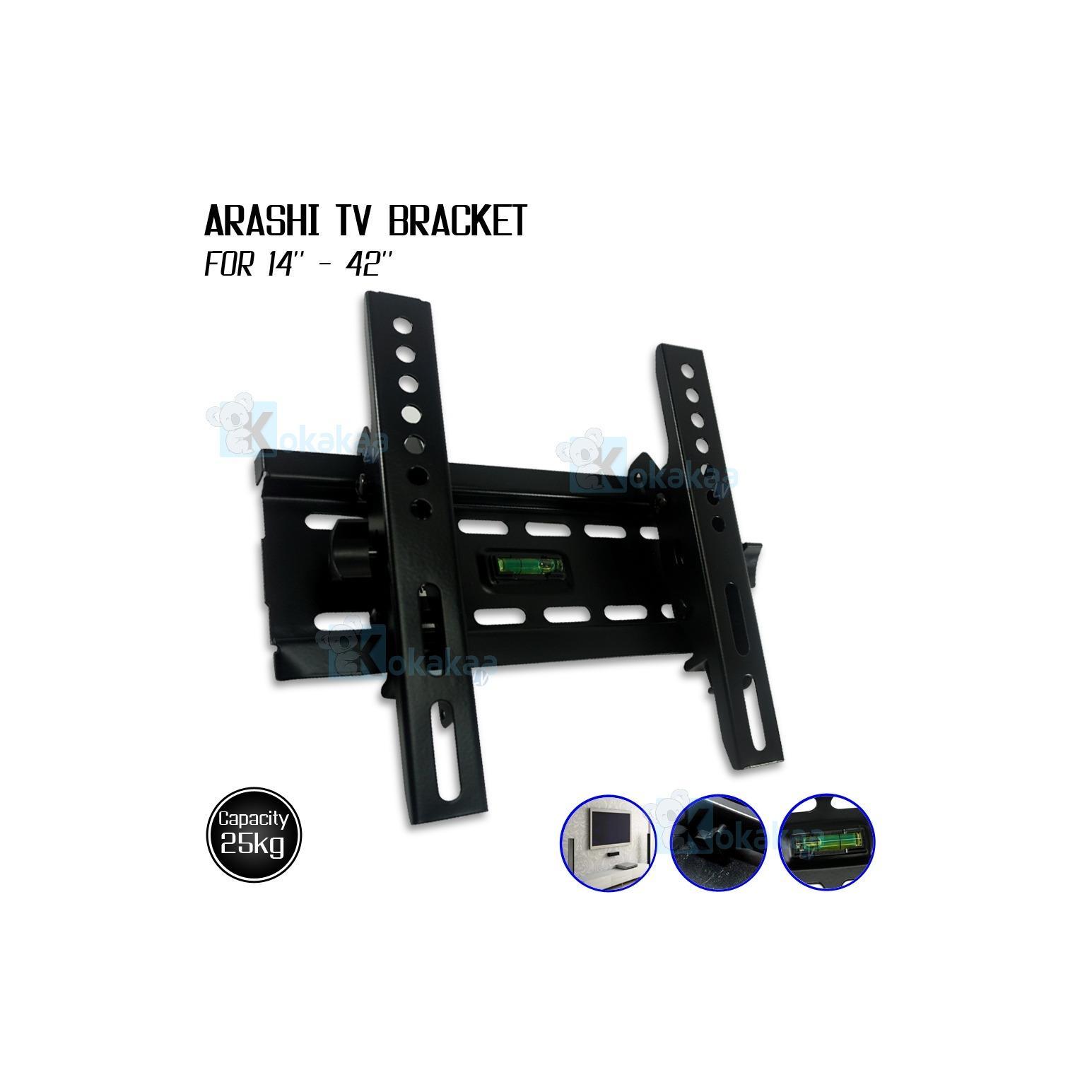 Arashi Bracket Penompang TV Universal LED / LCD / Plasma 14