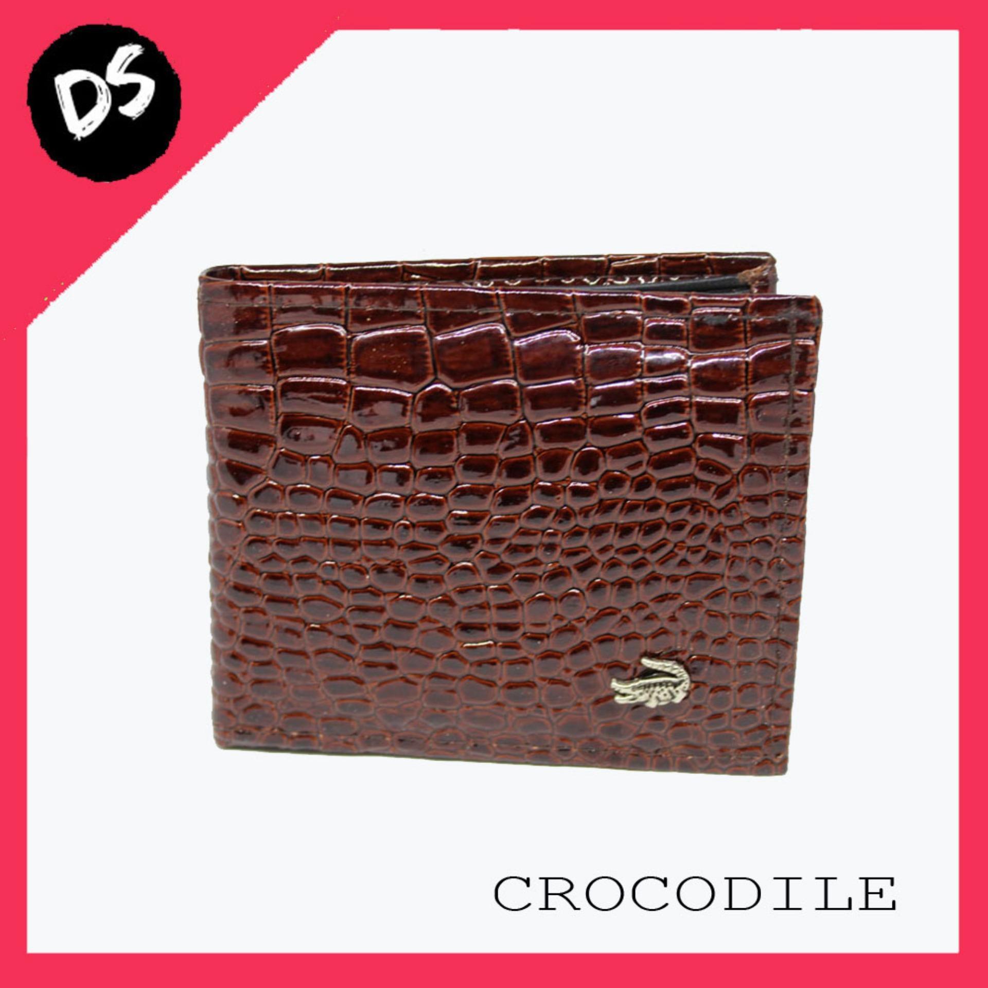 HOT PROMO!!! Dompet Pria Crocodile Keren Termurah - Dream Shop (Coklat)