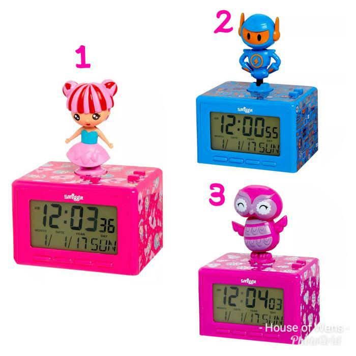 Smiggle Dancing Clock - Jam Smiggle - Asli Impor SG