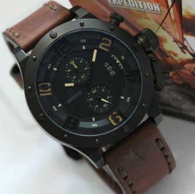 Fitur Expedition 6381 Jam Tangan Pria E6381 Black Stainless Steel ... 9889bf46ad