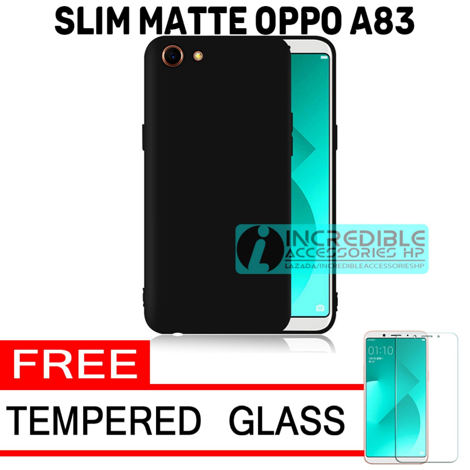 Oppo A83 Softcase Baby Skin Slim Matte Premium Black Matte - Hitam