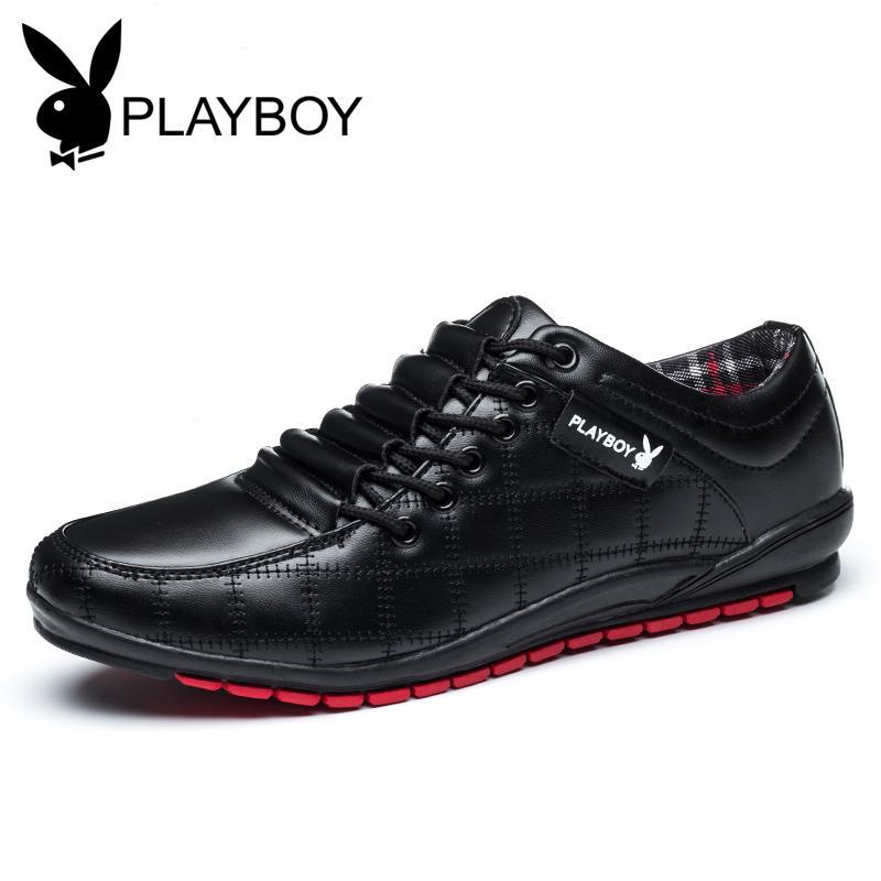 PLAYBOY Sepatu Trendi Musim Panas Sepatu Santai Anak Hitam Pria (Hitam)