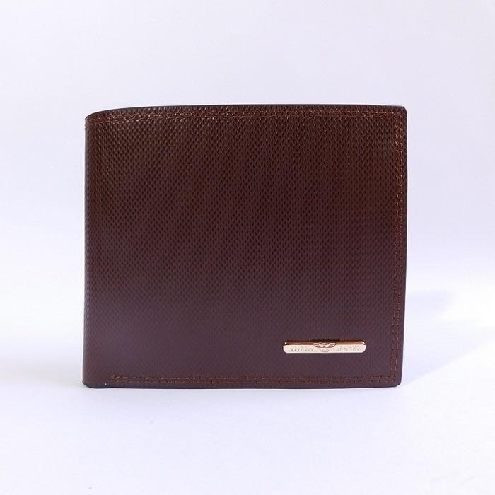 Dompet Kulit Pria Tidur Import Branded  Giorgio Armani 64-2619 Brown - Z7dnwk