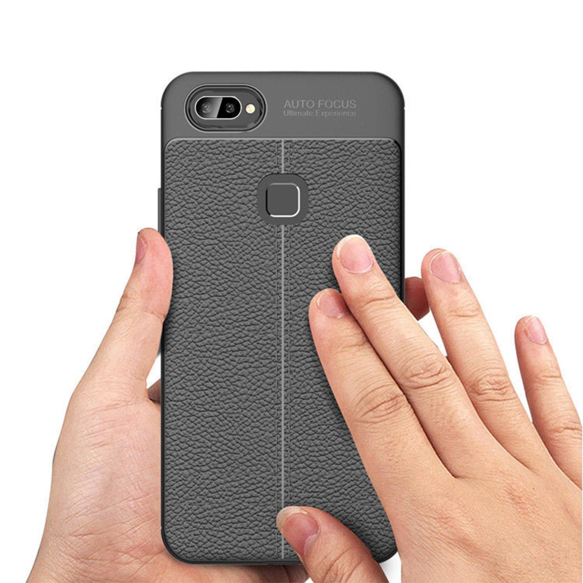 Features Case Auto Focus Oppo F9 2018 Leather Experience Slim