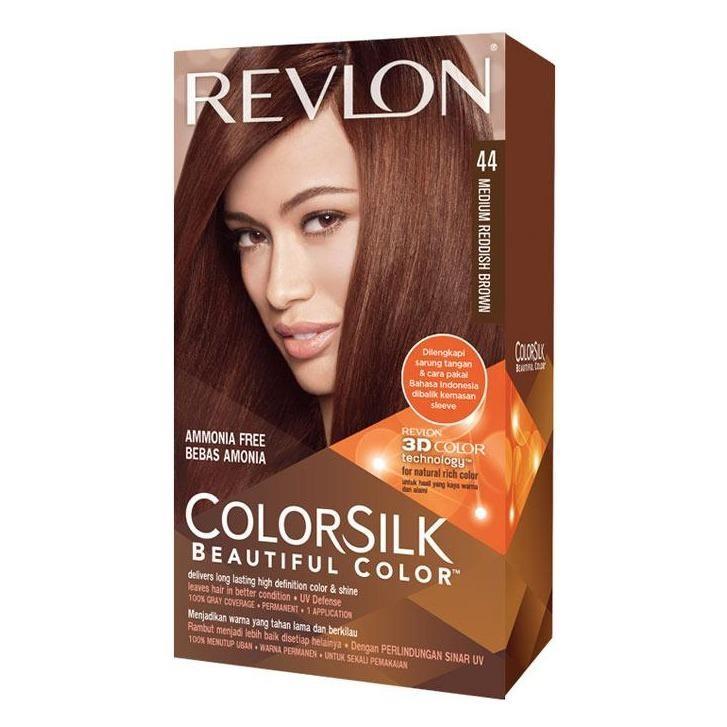 REVLON 44 Medium Reddish Brown - Pewarna Rambut Alami Bebas Amonia