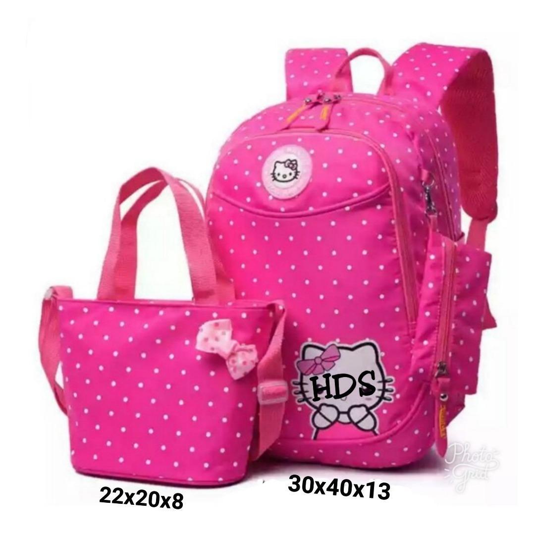 promo!! tas anak / sekolah / bermotif /warna/ polkadot pita