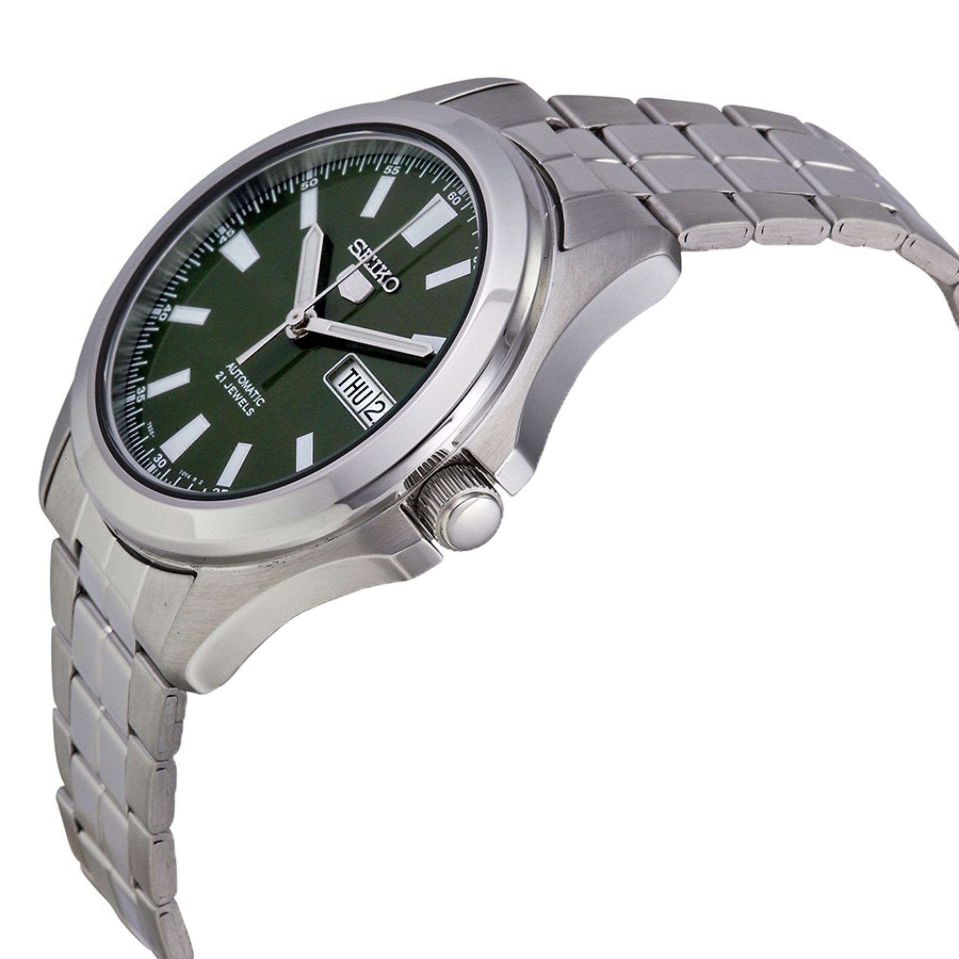 Seiko 5 Automatic Jam Tangan Starp Stainless Steel Silver Snkn85k1 Sport Srp487k1 Tali Logam Pria Detail Gambar Snkl05 Strap Terbaru