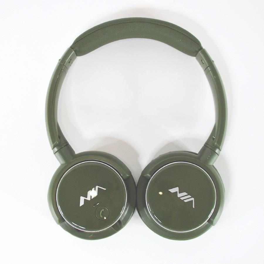 Jual Nia Headphone Bluetooth Q1 4In1 Wireless Calls Music Tf Card Fm Dark Green Termurah