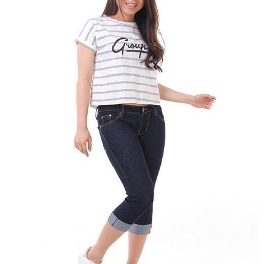Harga Jsk Celana Pendek Wanita Jeans Model Kaki Lipat Balik Jumbosize Murah