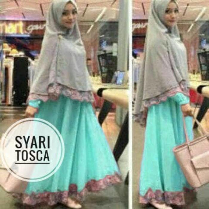 Cuci Gudang !!!    Syafina Gamis Maxi Syari Baju Muslim Remaja Wanita Bagus Murah Fira Tk