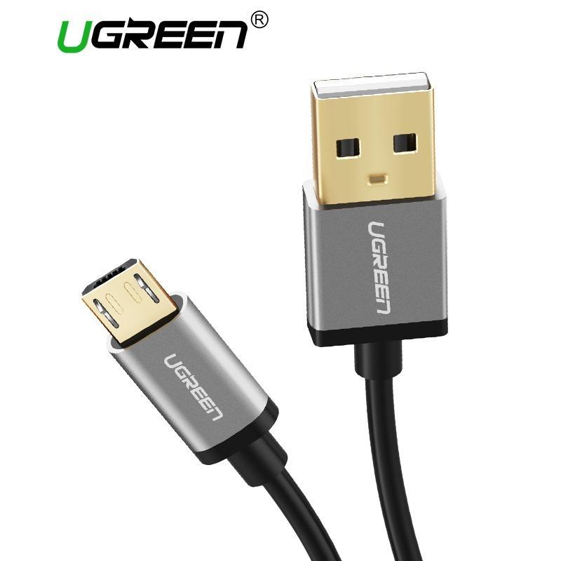 Promo Ugreen 3Meter Micro Usb 2 Charge Cable Untuk Xiaomi Redmi Samsung Lg Asus Zenfone Oppo Vivo Handphone Sync Cable Dengan Aluminium Case Silver Murah