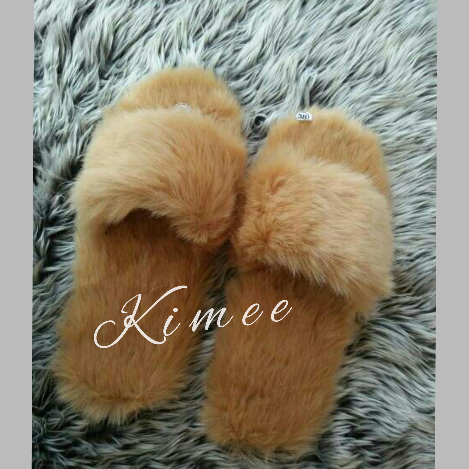 Kimee - Sandal Bulu / Sandal Rumahan / Sandal Wanita Bulu / Sandal Wanita / Sandal