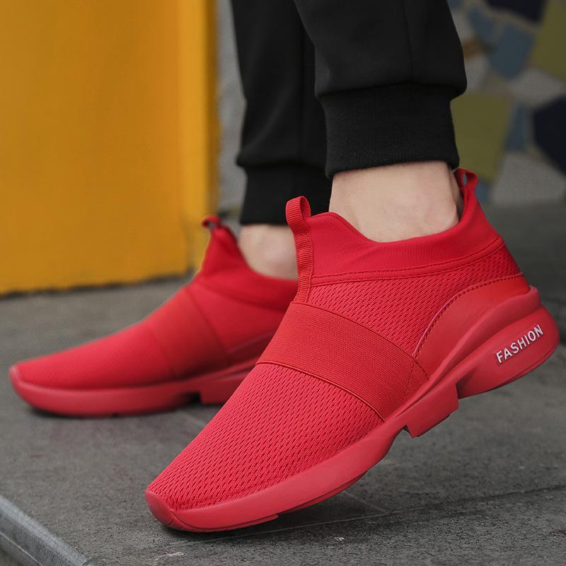 DanJi Pria Jaring Bernapas Sneakers Menjalankan Sepatu Olahraga Sepatu Lari  Olahraga Kebugaran Berjalan Sepatu Olahraga 39 7aae274fbd