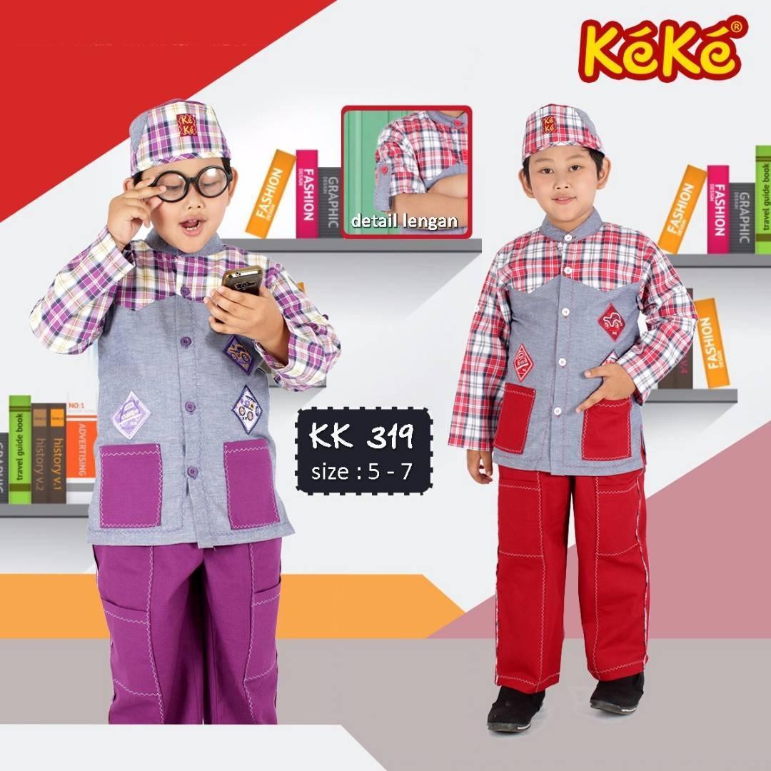 Kekesumut / Baju Koko Katun / size 5 tahun / Koko Anak Laki Laki / KK 319 / Pusat Grosir / Busana Muslim / Keke Busana / Branded / Original /