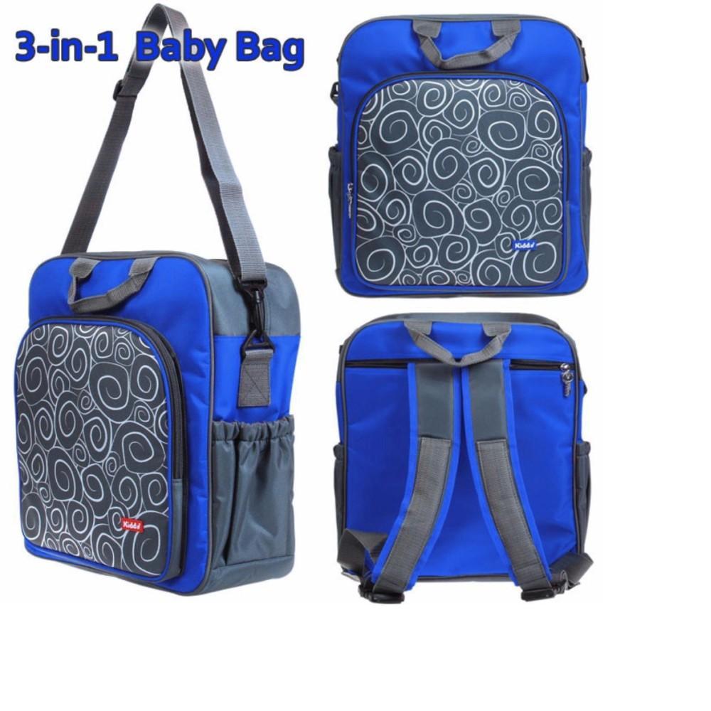 Kiddy Diaper Bag 3in1 Tas Perlengkapan Bayi