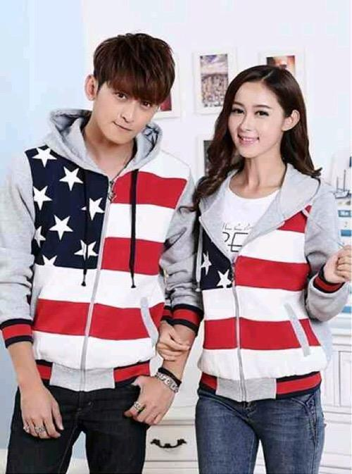 Jaket couple five star abu