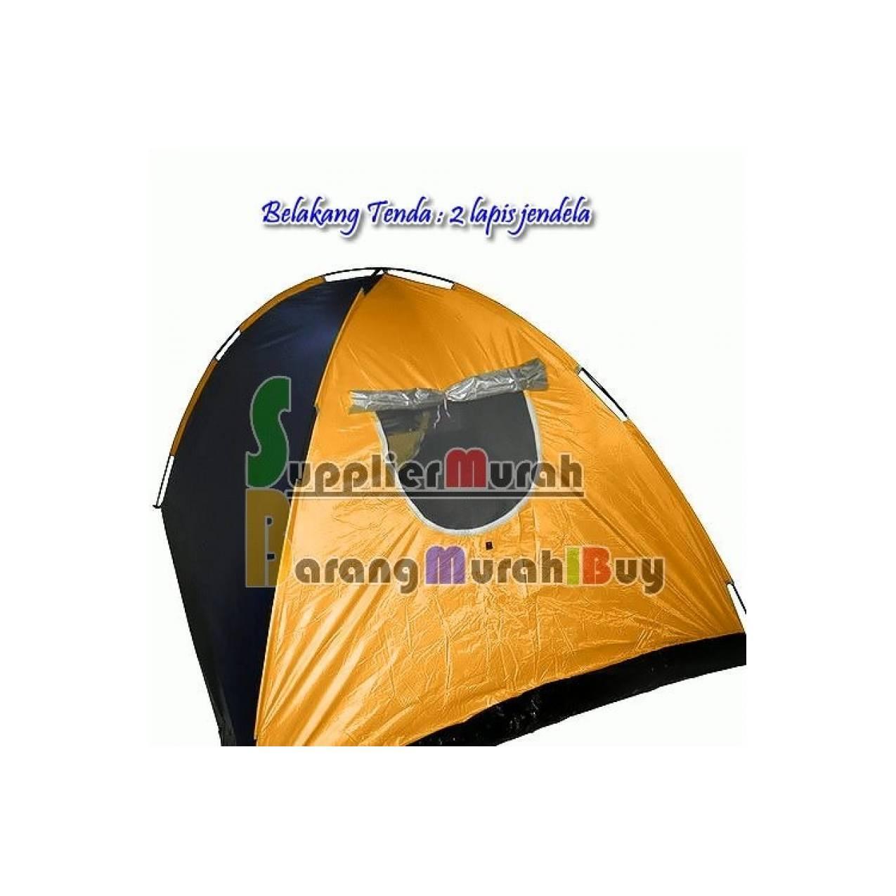 Tenda Camping kemping dome Lipat 6 orang dengan alas tenda dan jaring