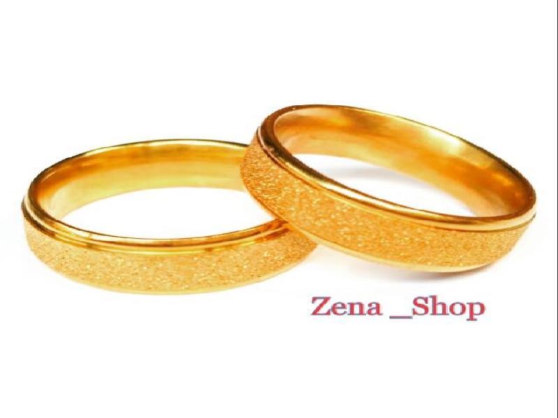 Cincin Couple Titanium Gold Free Ukir Nama + Freebox..... Zena_Shop