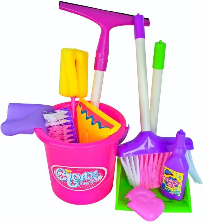 CLEANING SET KANTONG - MAINAN SAPU SAPUAN LITTLE HELPER - W38Zp3