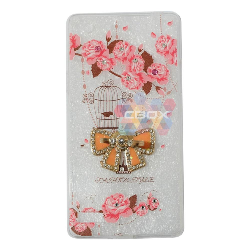 ANGEL WITH SPIDER TATTOO & LOVE PHONE HOLDER RING MUTIARA JELLY SILICONE CASING .