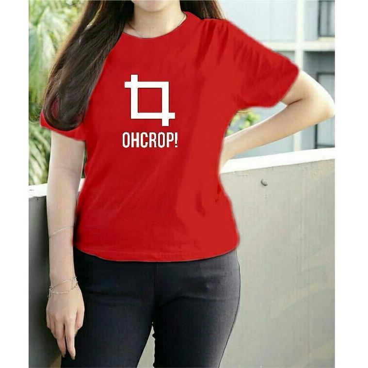 Vanessa Tumblr Tee / T-Shirt CROP/ T-shirt Wanita / Kaos Cewek
