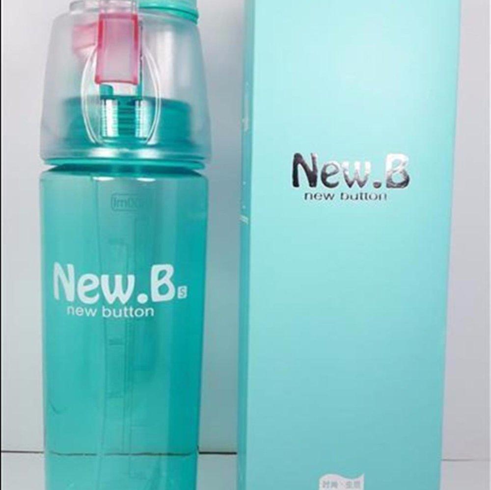 Botol Minum New B Sport Spray Water Bottle 600 ml botol minum semprot .