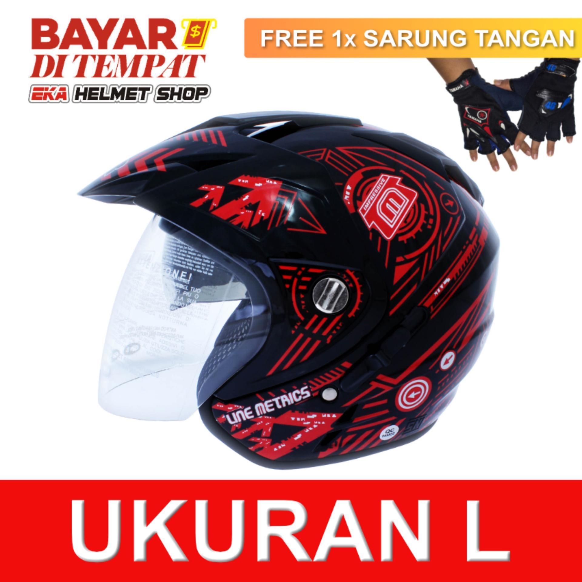 Beli Msr Helmet Impressive Line Matrics Black Red Promo Gratis Sarung Tangan Lengkap