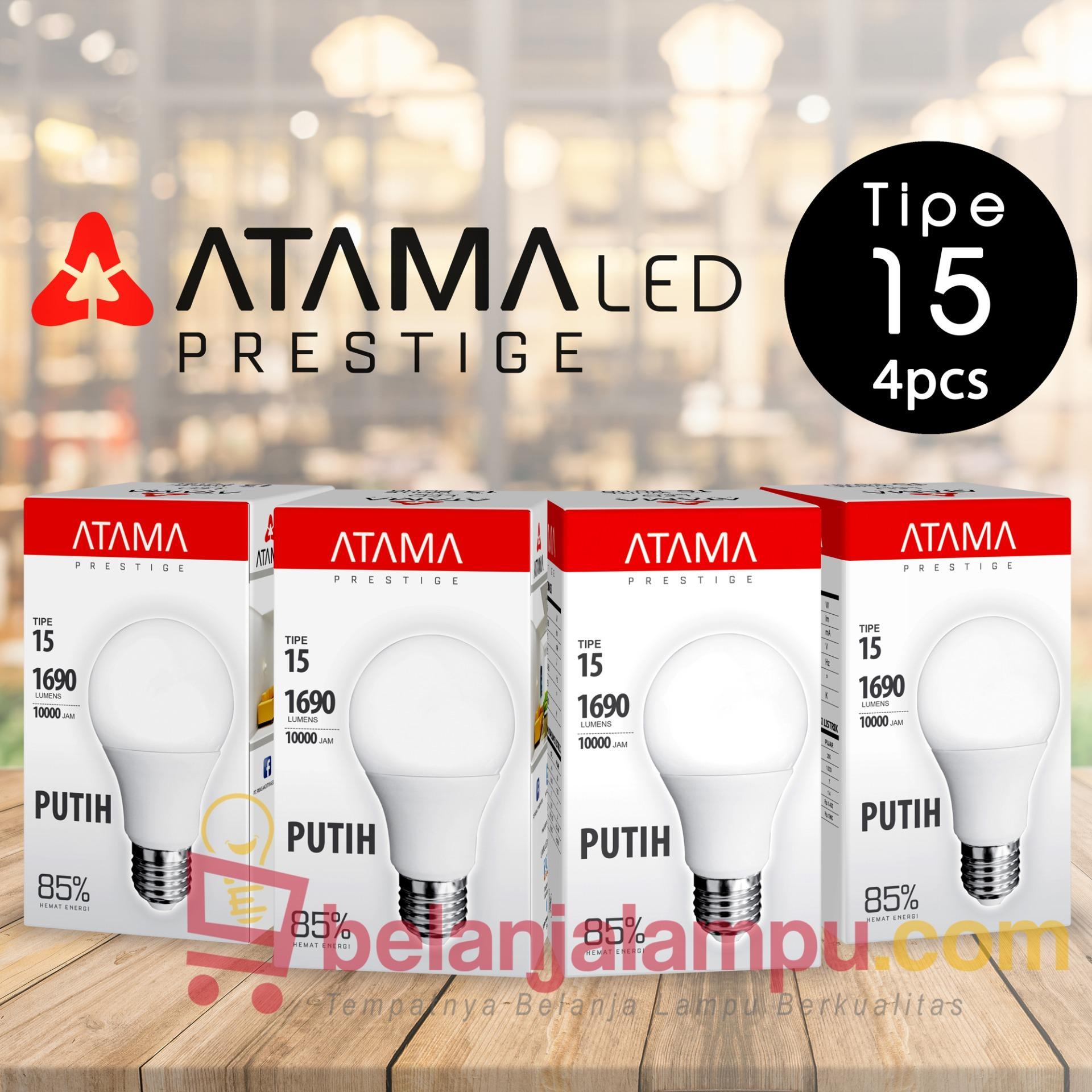 Beli Lampu Atama Prestige Led Tipe 15 Putih 4 Pcs Dengan Pendingin Heatsink Pake Kartu Kredit