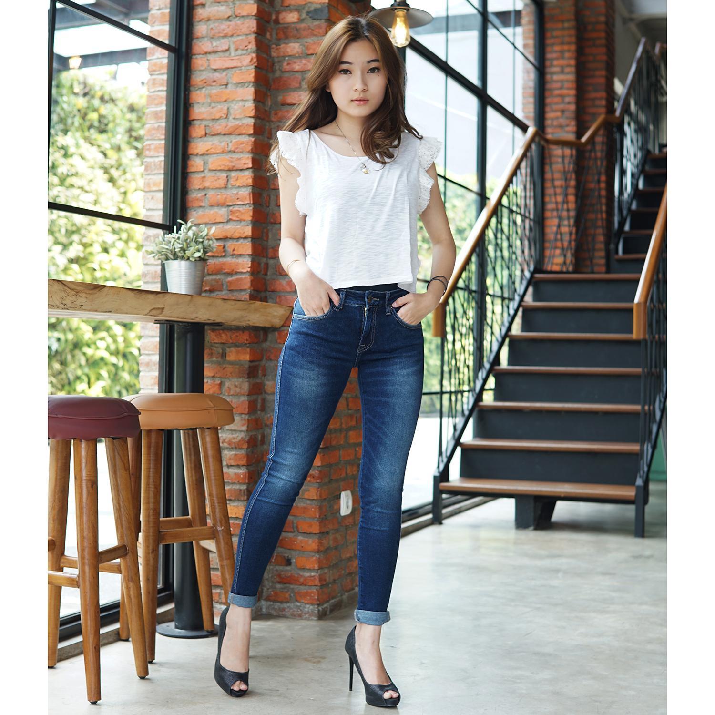 Rumah Jeans / Celana Jeans Wanita / Branded Dark Jeans / Skinny Jeans .