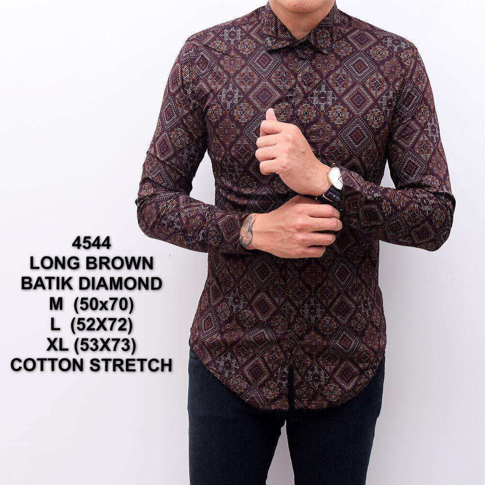 Harga Kemeja Batik Songket Murah Baju Resmi Cowok Slimfit Batik Songket Pria Distro Premium Asli Batik