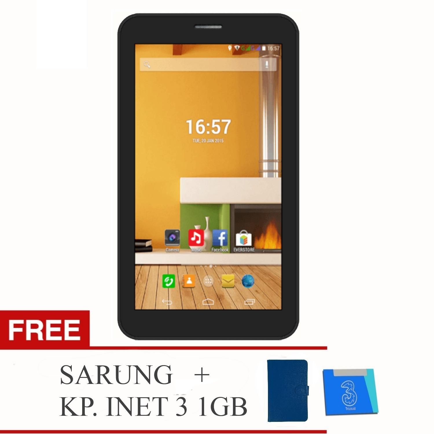 Evercoss AT1D Jump S Tab - 2G - RAM 512GB / ROM 4GB + Free Sarung & KP Inet 3 (1GB)